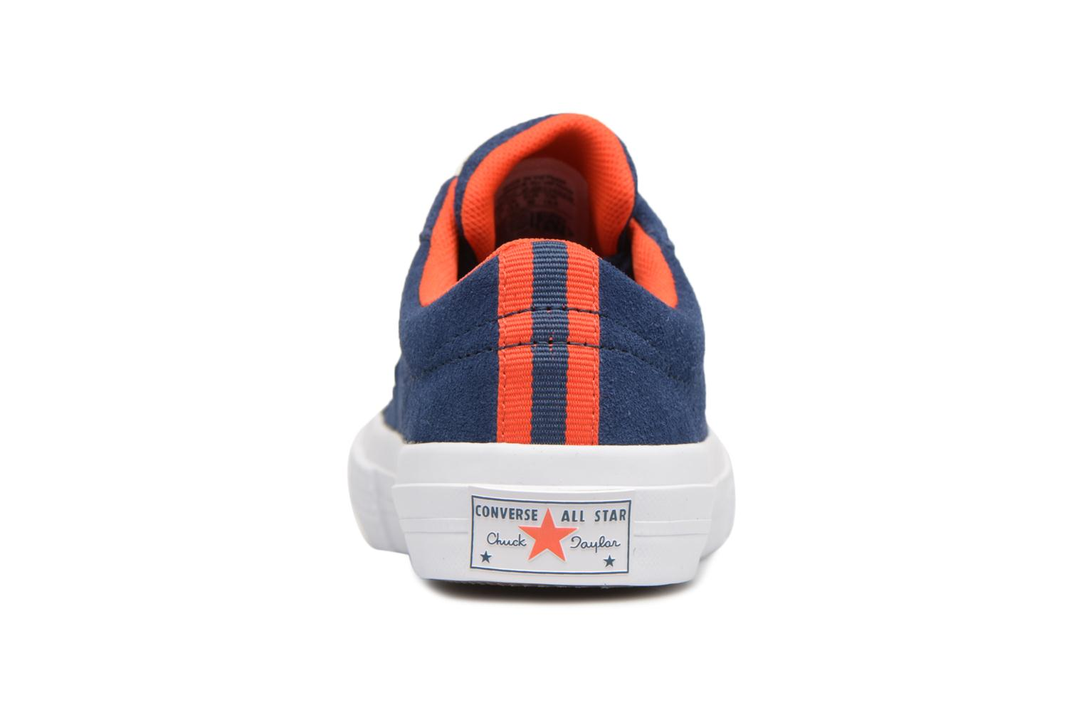 Wolf Grey/White/Navy Converse One Star Ox Molded Varsity Star (Gris)