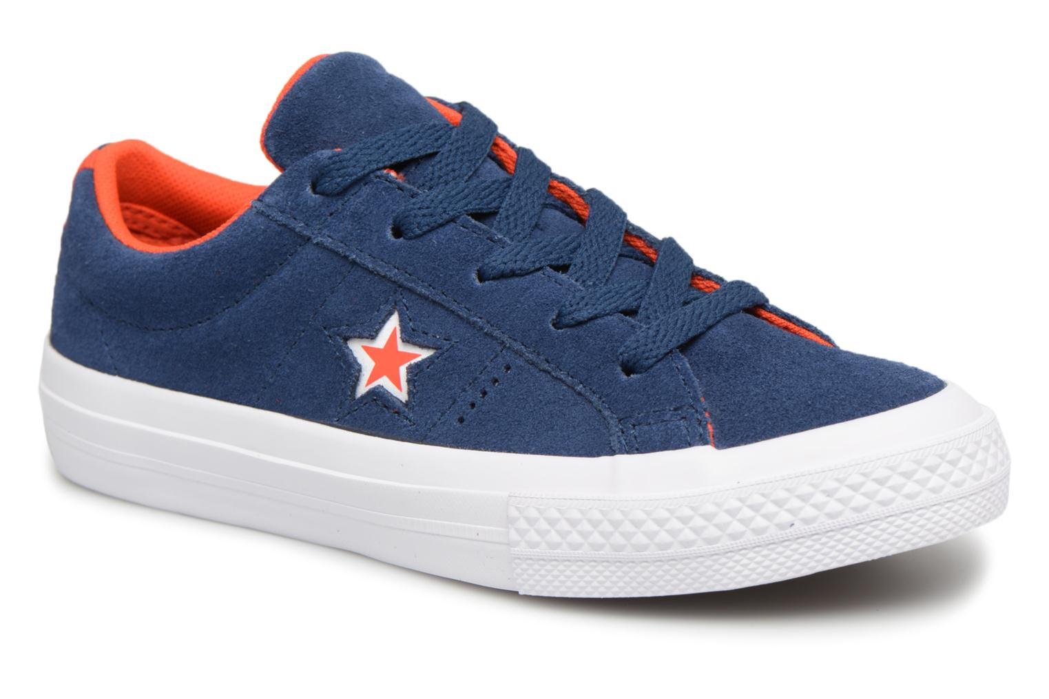 Baskets Converse One Star Ox Molded Varsity Star Bleu vue détail/paire