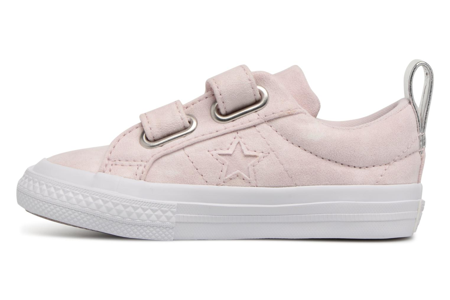 Barely Rose/Barely Rose/White Converse One Star 2V Ox Peached Wash (Rose)