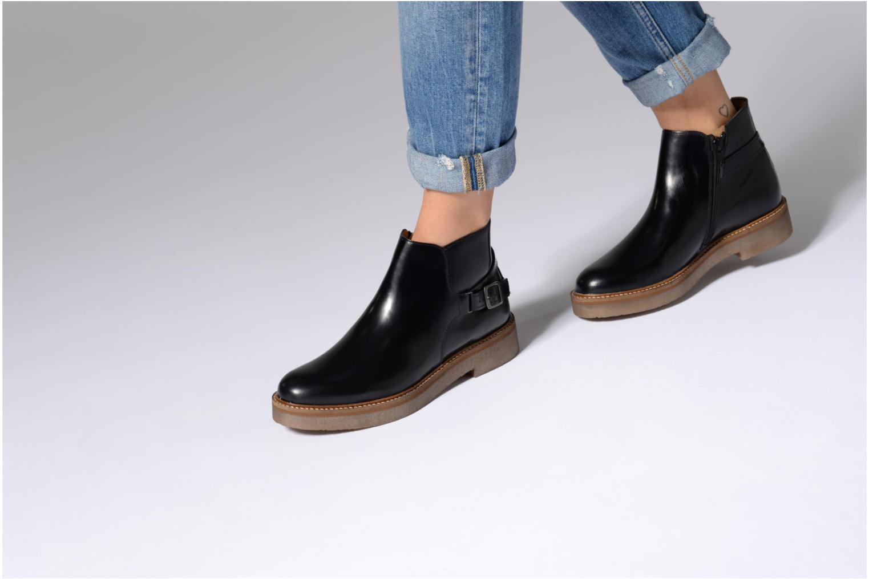 Bottines et boots Kickers OXIMORE Noir vue bas / vue portée sac