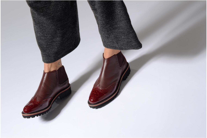 Bottines et boots Kickers RUSKY Bordeaux vue bas / vue portée sac