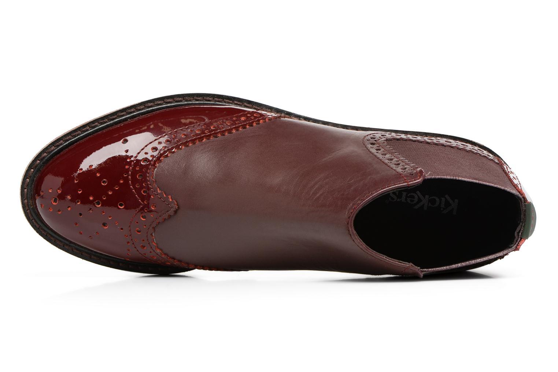 Bottines et boots Kickers RUSKY Bordeaux vue gauche