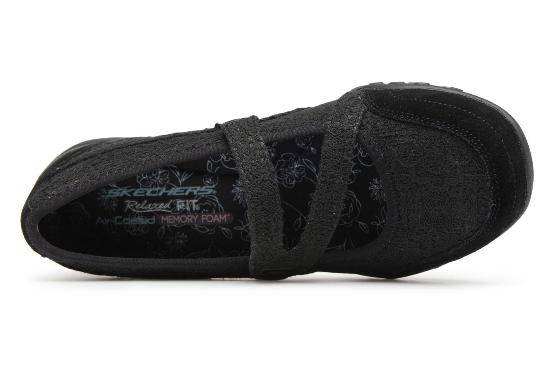 Ballerines Skechers Breathe-Easy Pretty Swagger Noir vue gauche