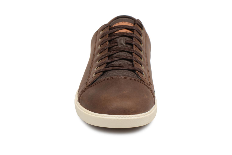 Sneaker Timberland Fulk Cap Toe Ox braun schuhe getragen