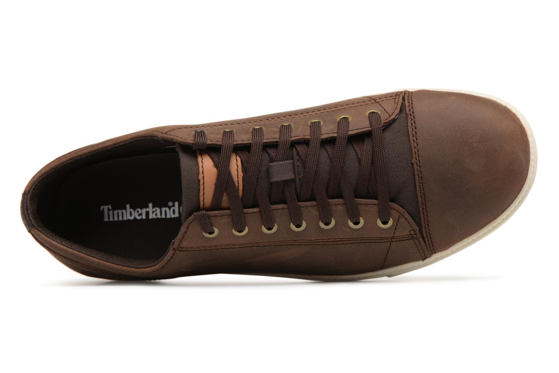 Sneaker Timberland Fulk Cap Toe Ox braun ansicht von links