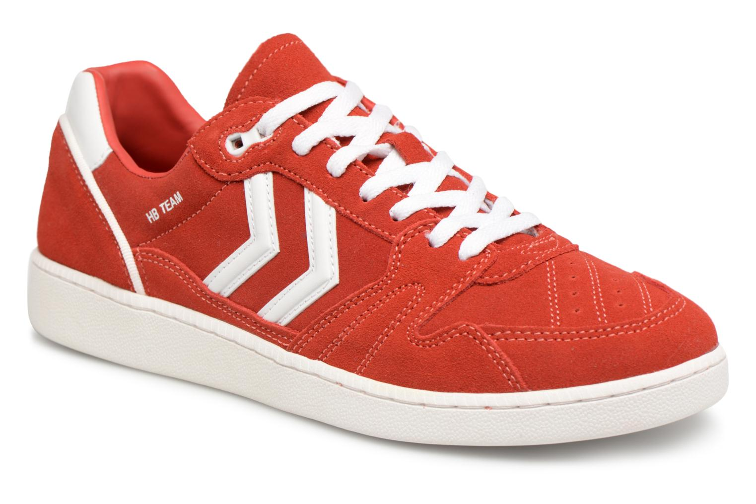 Fiery Red Hummel HB TEAM SUEDE (Rouge)