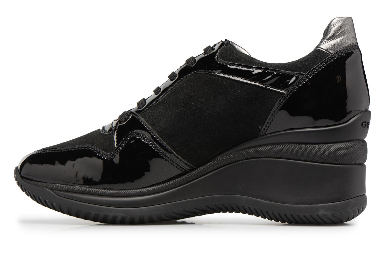 Sneakers Geox D REGINA B Zwart voorkant