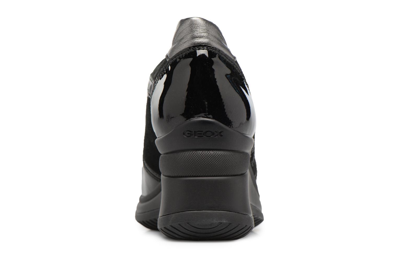 Sneakers Geox D REGINA B Zwart rechts
