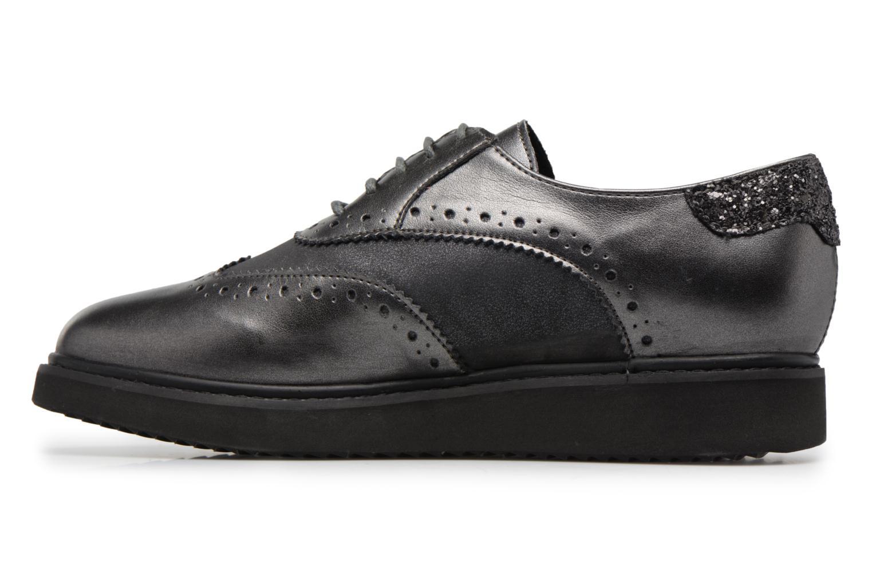 Chaussures à lacets Geox D THYMAR B Gris vue face