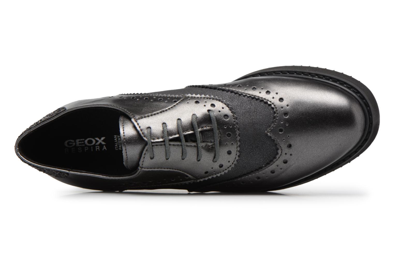 Chaussures à lacets Geox D THYMAR B Gris vue gauche