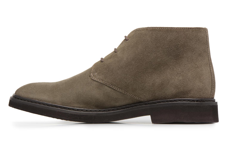 Stiefeletten & Boots Geox U DAMOCLE B grau ansicht von vorne