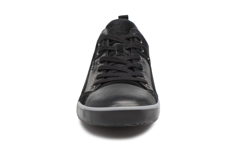 Baskets Geox U SMART A U74X2A Noir vue portées chaussures