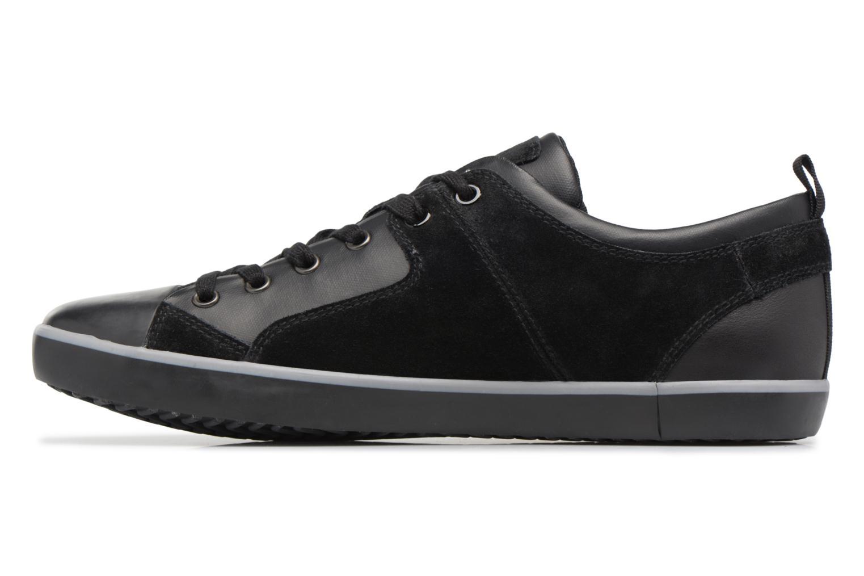 Sneaker Geox U SMART A U74X2A schwarz ansicht von vorne