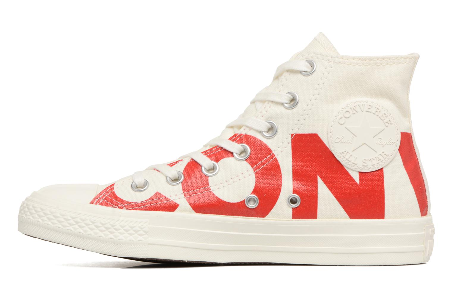 Baskets Converse Chuck Taylor All Star Converse Wordmark Hi W Blanc vue face