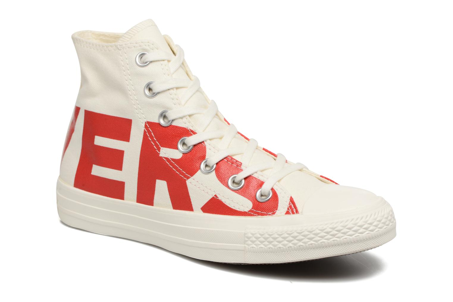 Baskets Converse Chuck Taylor All Star Converse Wordmark Hi W Blanc vue détail/paire
