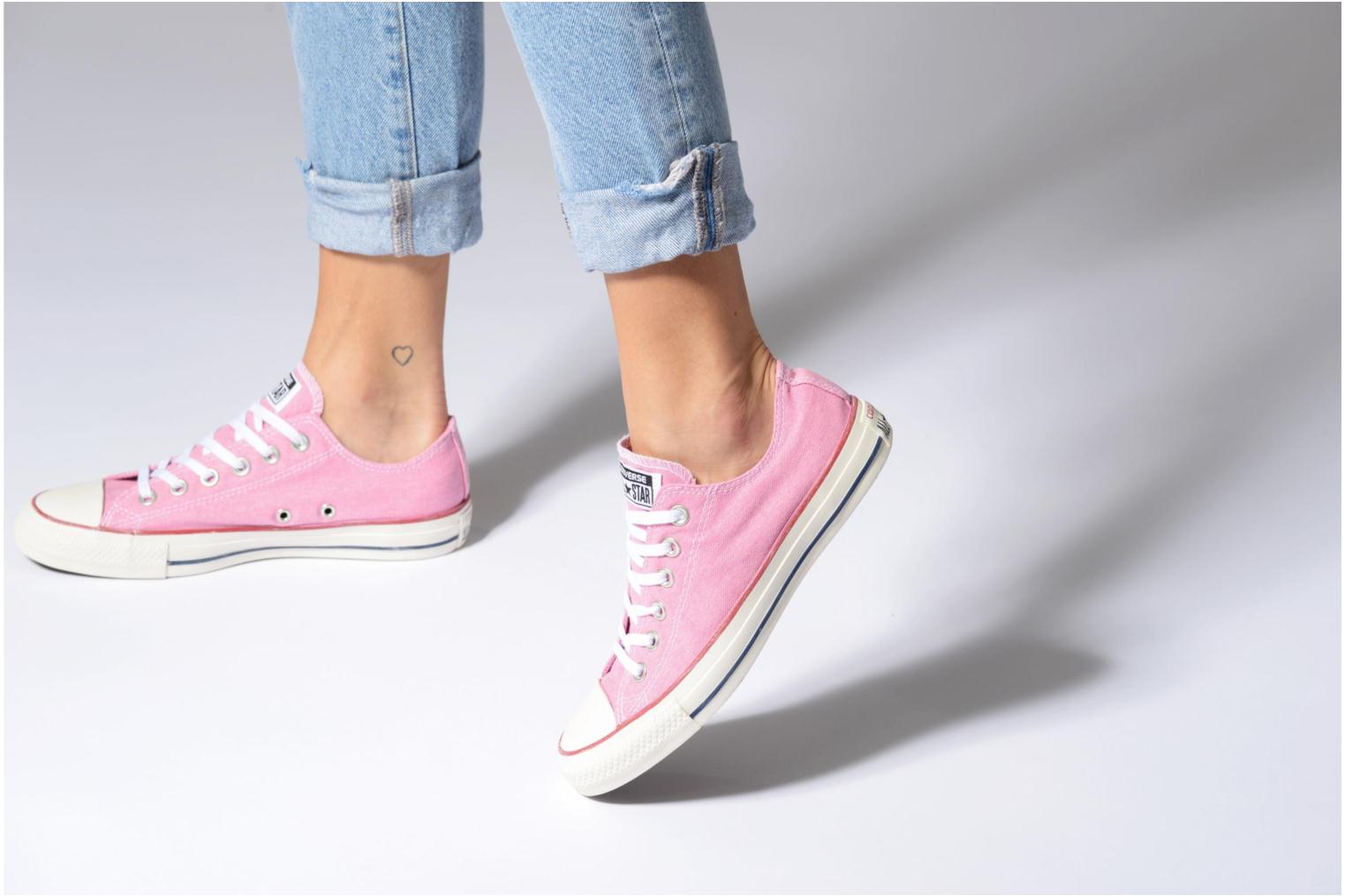 Light Orchid/Light Orchid/White Converse Chuck Taylor All Star Stone Wash Ox W (Rose)