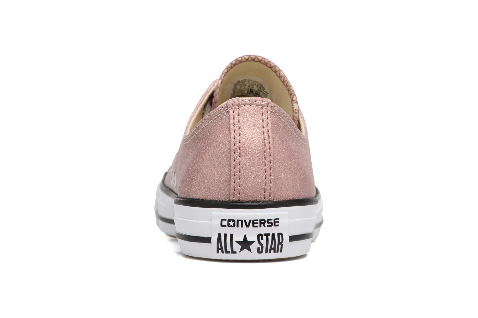Baskets Converse Chuck Taylor All Star Ombre Metallic Ox Rose vue droite