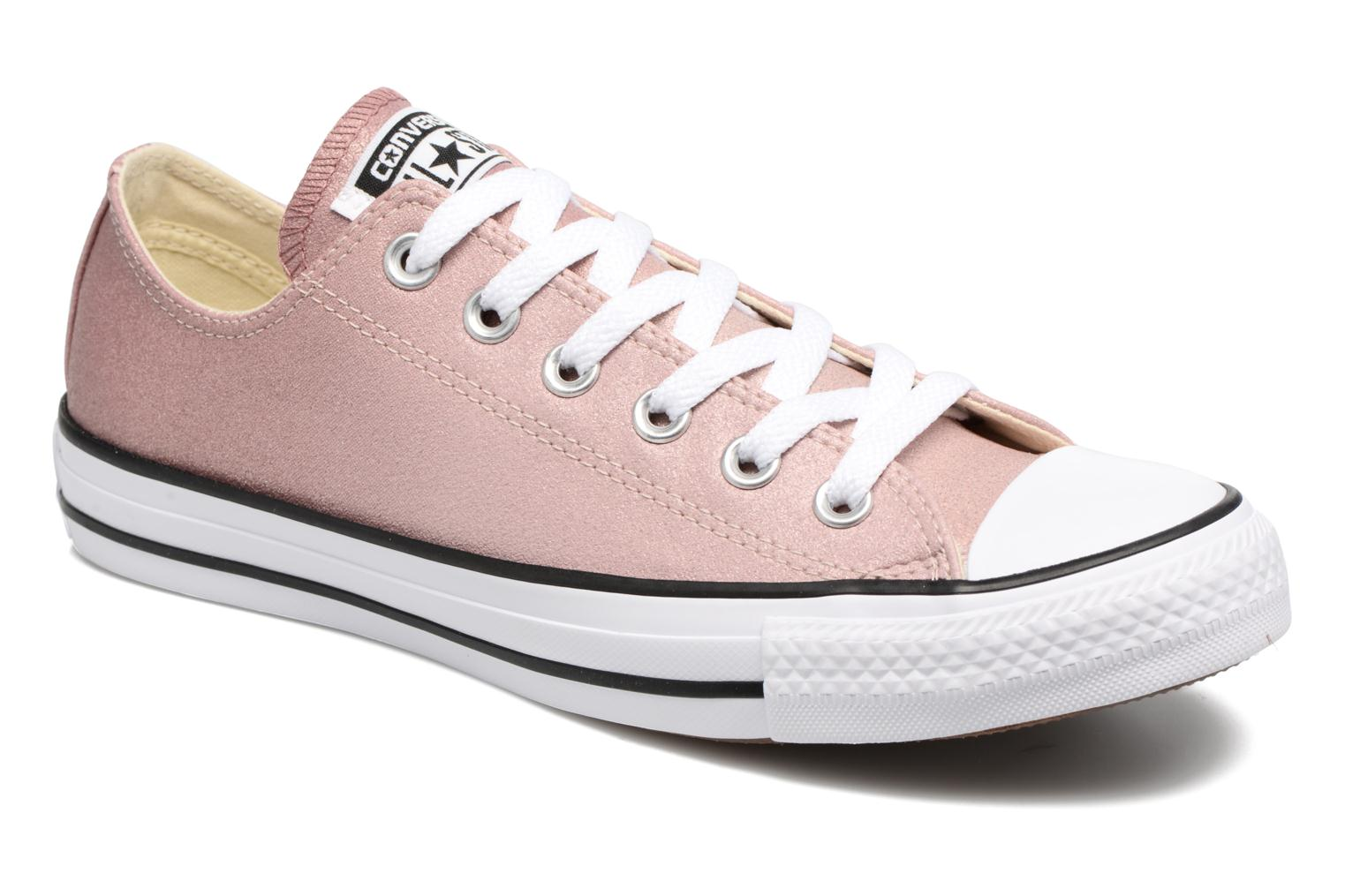 Baskets Converse Chuck Taylor All Star Ombre Metallic Ox Rose vue détail/paire