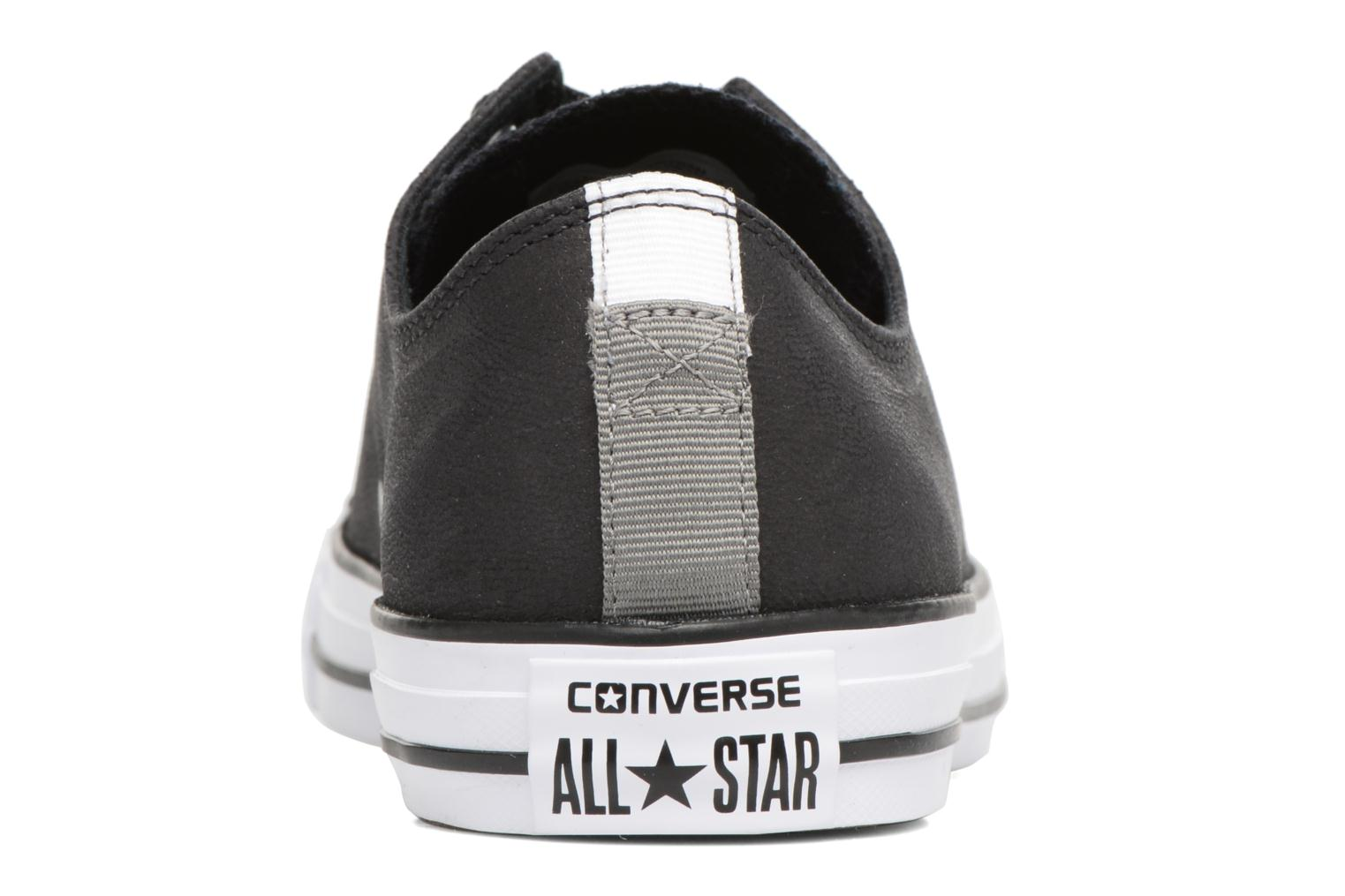 Mars Stone/Black/White Converse Chuck Taylor All Star Fashion Leather Ox (Bordeaux)