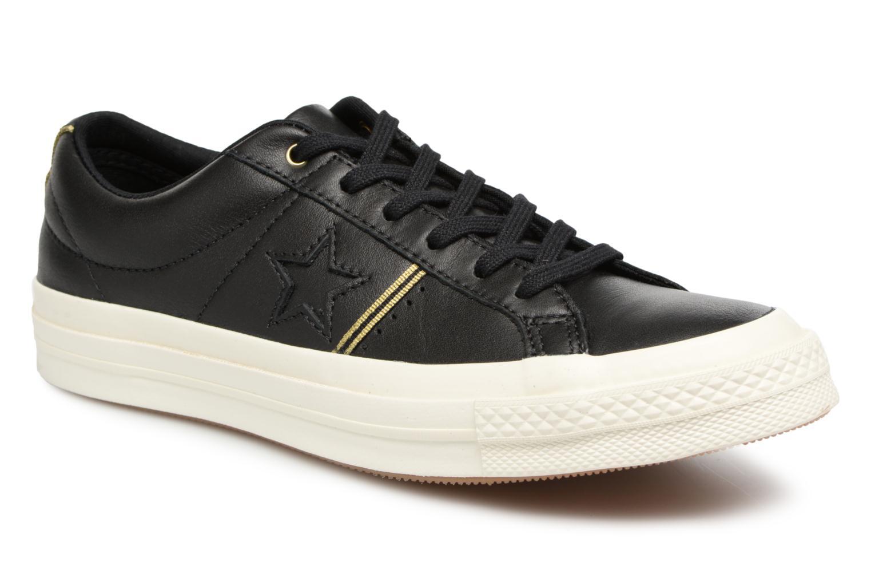 Zapatos de hombres y mujeres de moda casual Converse One Star Piping Pack Ox W (Negro) - Deportivas en Más cómodo