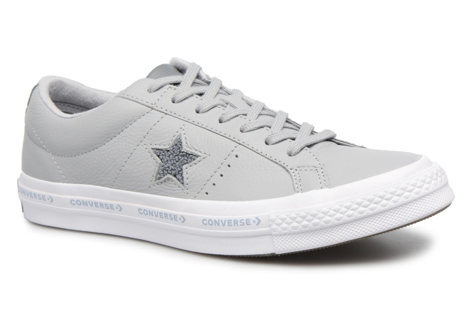 Marques Chaussure homme Converse homme One Star Converse Pinstripe Ox Wolf Grey/Cool Grey/White