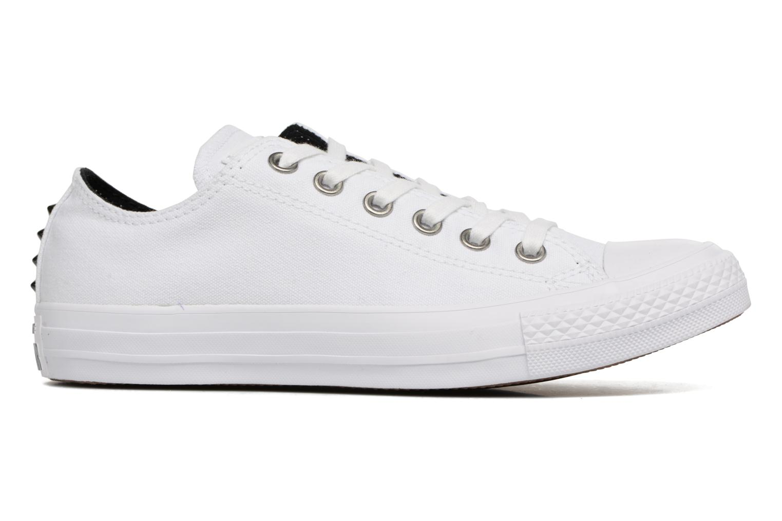 White/Black/White Converse Chuck Taylor All Star Canvas + Studs Ox (Blanc)