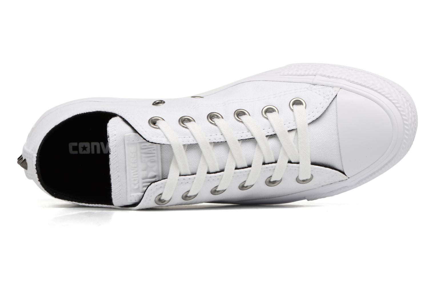 Baskets Converse Chuck Taylor All Star Canvas + Studs Ox Blanc vue gauche
