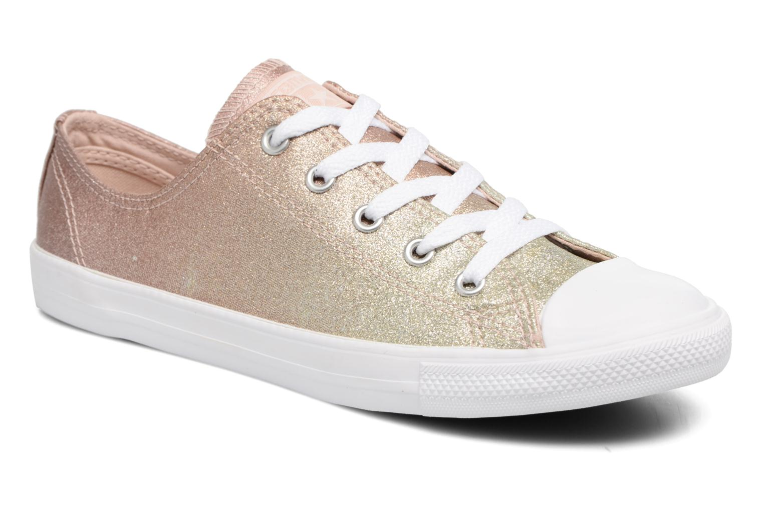 Blue Tint/Light Carbon Converse Chuck Taylor All Star Dainty Ombre Metallic Ox (Gris)