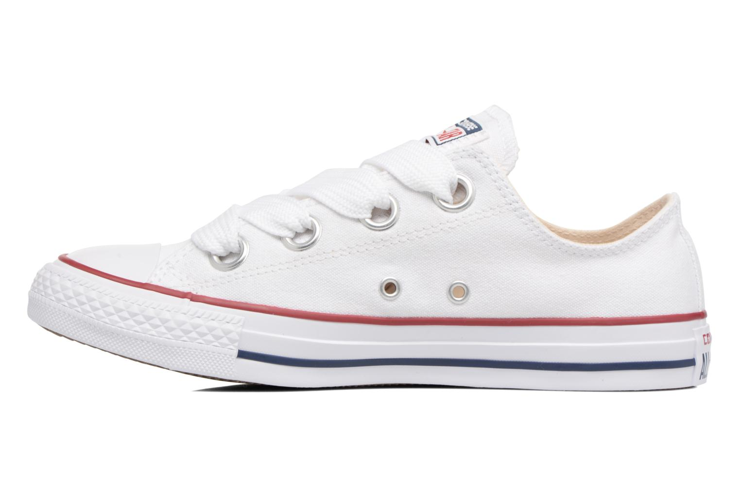 Baskets Converse Chuck Taylor All Star Big Eyelets Ox Blanc vue face