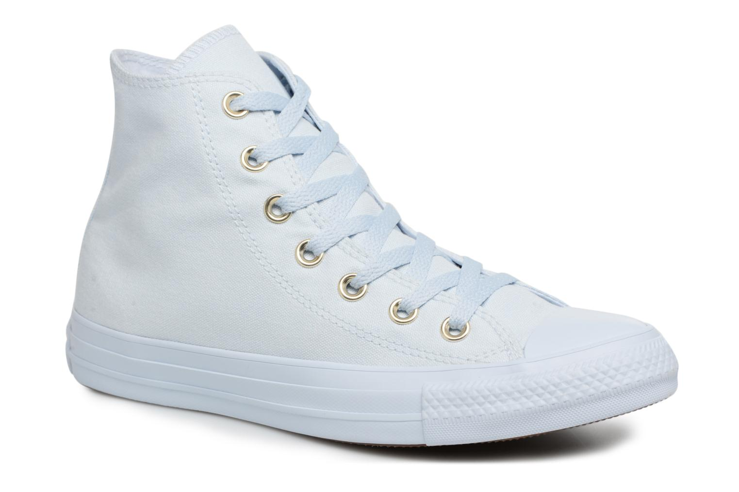Chuck Taylor All Star Mono Glam Canvas Color Hi W Blue Tint/Blue Tint/Gold