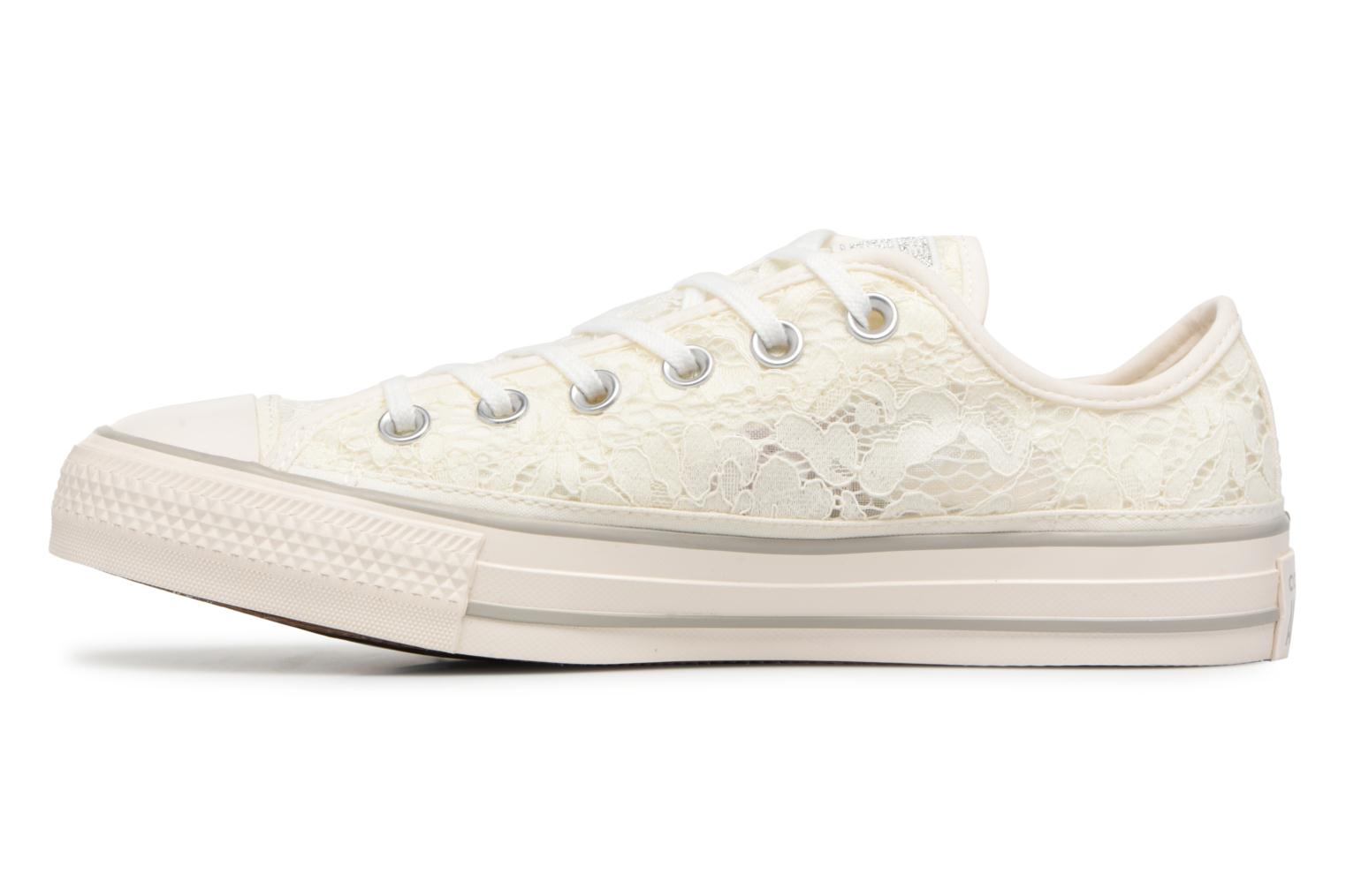 Baskets Converse Chuck Taylor All Star Flower Lace Ox Blanc vue face