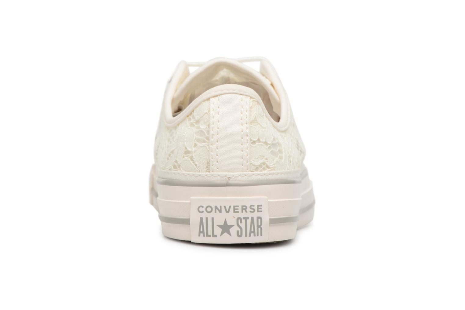 Baskets Converse Chuck Taylor All Star Flower Lace Ox Blanc vue droite