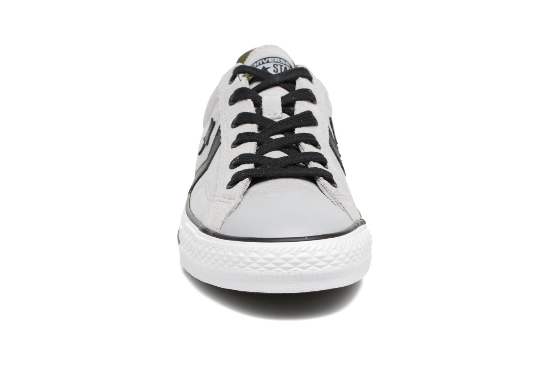 Vintage Khaki/Black/White Converse Star Player Camo Suede Ox (Beige)