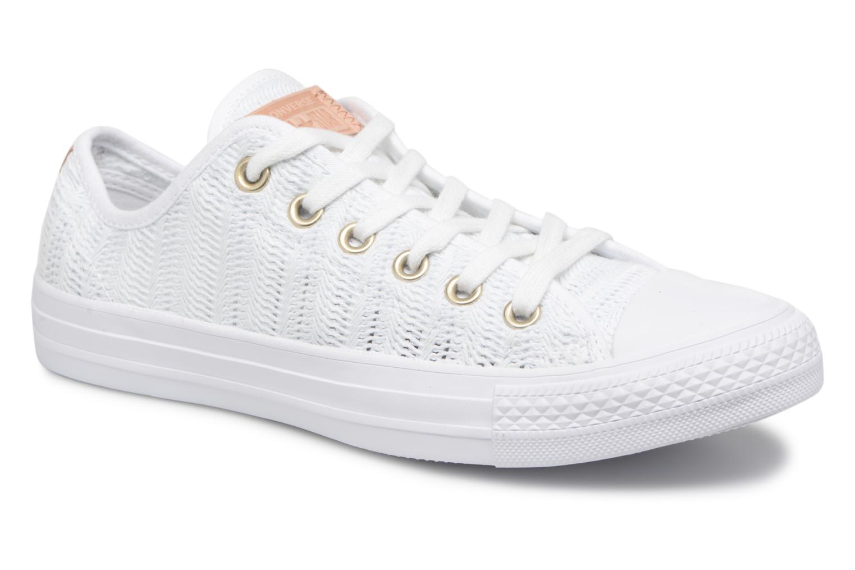 Zapatos promocionales Converse Chuck Taylor All Star Herringbone Mesh Ox (Blanco) - Deportivas   Zapatos de mujer baratos zapatos de mujer