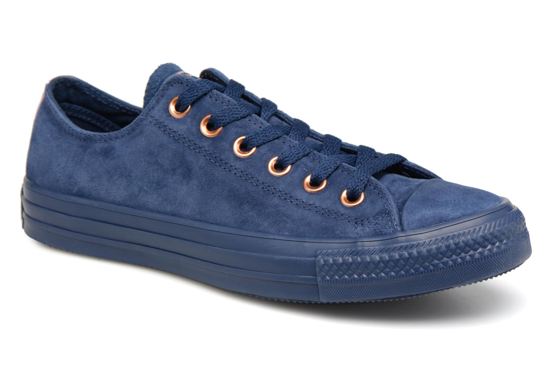 Zapatos promocionales Converse Chuck Taylor All Star Tonal P. Suede Ox (Azul) - Deportivas   Cómodo y bien parecido