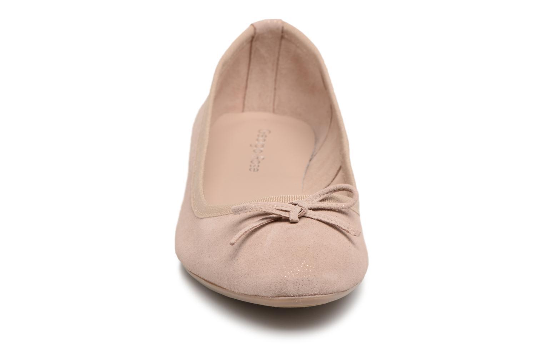 Ballerines Georgia Rose Luna Beige vue portées chaussures