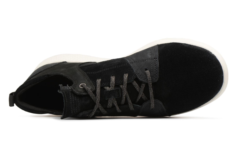 Sneaker Timberland FlyRoam Leather Oxford schwarz ansicht von links