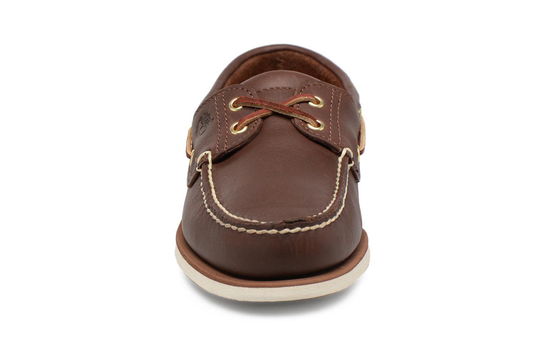 Chaussures à lacets Timberland MEN'S 2 EYE BOAT SHOE Marron vue portées chaussures