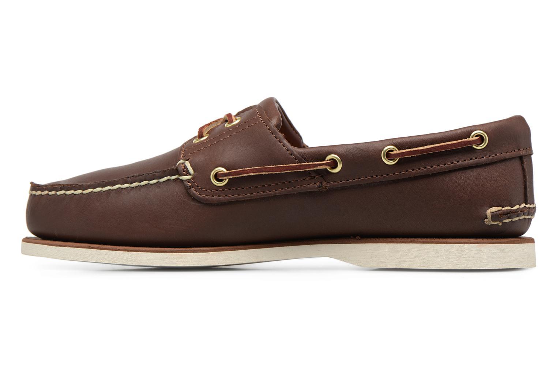Chaussures à lacets Timberland MEN'S 2 EYE BOAT SHOE Marron vue face