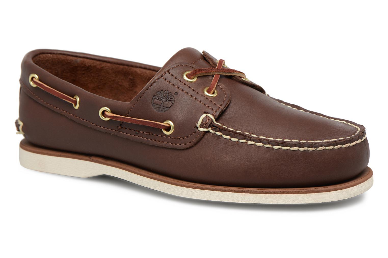 Chaussures à lacets Timberland MEN'S 2 EYE BOAT SHOE Marron vue détail/paire