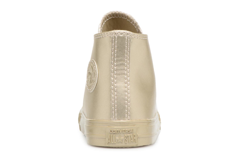 Sneaker Converse CTAS HI LIGHT gold/bronze ansicht von rechts