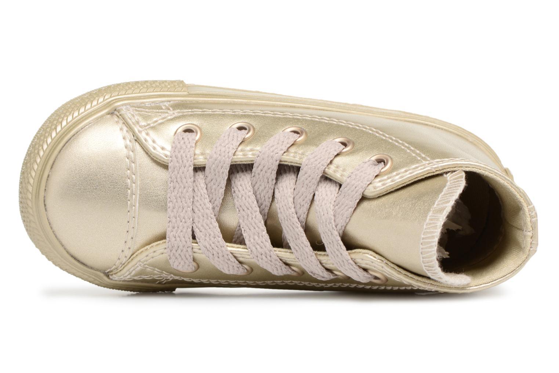Sneaker Converse CTAS HI LIGHT gold/bronze ansicht von links