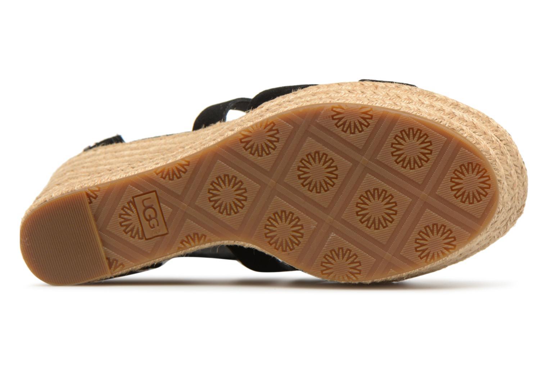 Sandales et nu-pieds UGG Raquel Noir vue haut