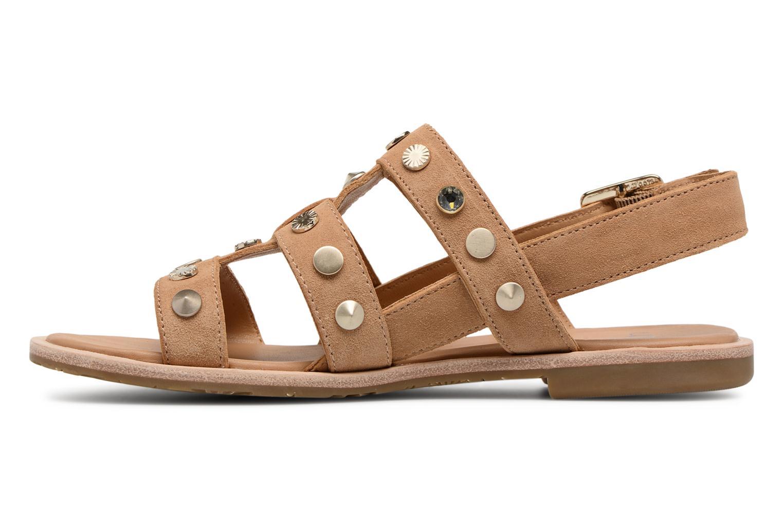 Sandales et nu-pieds UGG Zariah Studded Bling Marron vue face