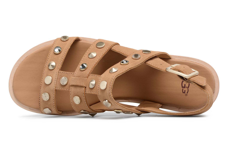 Sandales et nu-pieds UGG Zariah Studded Bling Marron vue gauche