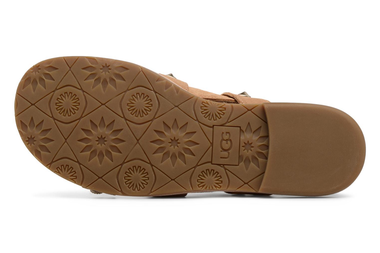 Sandales et nu-pieds UGG Zariah Studded Bling Marron vue haut