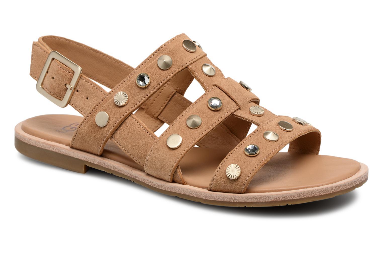 Sandales et nu-pieds UGG Zariah Studded Bling Marron vue détail/paire