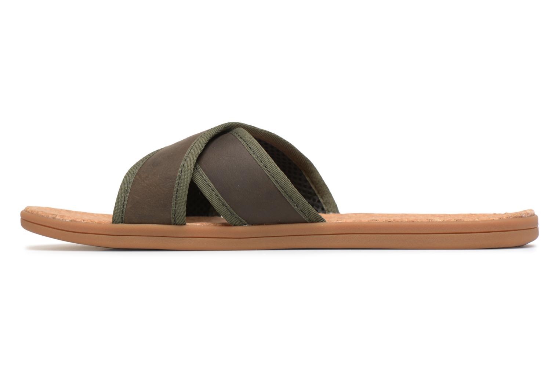 Sandales et nu-pieds UGG Seaside Slide Marron vue face