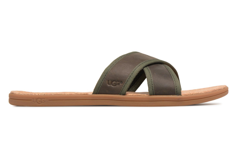 Sandales et nu-pieds UGG Seaside Slide Marron vue derrière