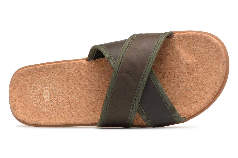 Sandales et nu-pieds UGG Seaside Slide Marron vue gauche